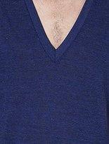 American Apparel Men's Unisex Tri-Blend Short Sleeve Deep V-Neck