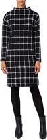 Grid Check Long Sleeve Jersey Dress