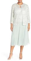 Alex Evenings 4121143 Lace Tea Length Dress with Jacket