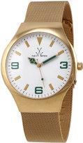 Toy Watch ToyWatch Golden Mesh Bracelet Watch, Green