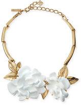 Oscar de la Renta Golden Resin Flower Collar Necklace