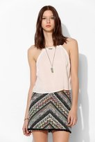 Urban Outfitters Staring At Stars Blanket Stripe Mini Skirt