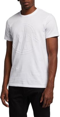 Moncler Men's Large Felted Logo Crewneck T-Shirt