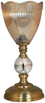 "Dale Tiffany Springdale 12"" Crown Crystal Accent Lamp"