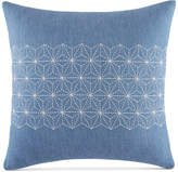 """Tommy Hilfiger Closeout! Geo Embroidered 18"""" Square Decorative Pillow Bedding"""