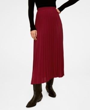 MANGO Pleated Long Skirt