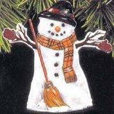 Hallmark QX6715 Meadow Snowman 1997 Keepsake Ornament