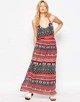 Liquorish Blanket Geo-Tribal Print Maxi Dress
