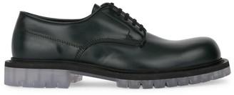 Bottega Veneta Lug Sole Leather Derby Shoes