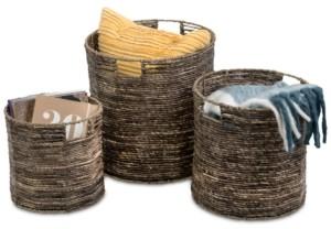 Honey-Can-Do Coastal Collection 3-Pc. Nesting Storage Bin Set