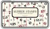 Cavallini & Co. Rubber Stamps Numbers and Symbols, Assorted with Ink Pad