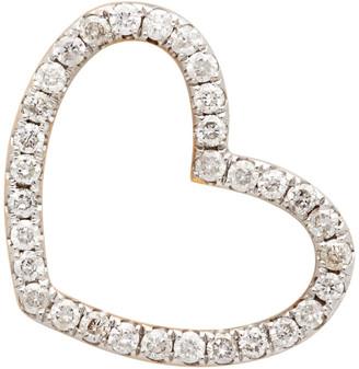 Yvonne Léon Gold Puce Coeur Single Earring