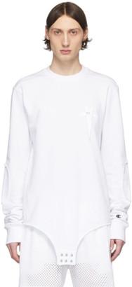 Rick Owens White Champion Edition Long Sleeve T-Shirt