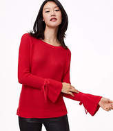 LOFT Petite Tie Cuff Sweater