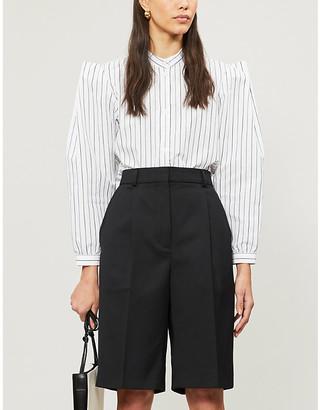 Won Hundred Meadow striped cotton-blend shirt