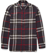 Burberry Slim-Fit Checked Cotton-Flannel Shirt