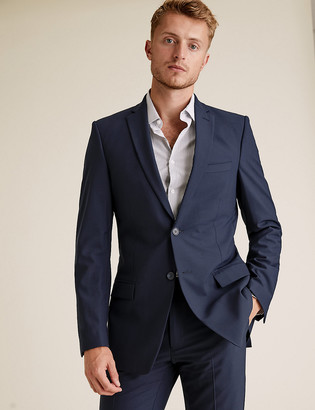 Marks and Spencer The Ultimate Big & Tall Navy Slim Fit Jacket