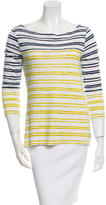Tory Burch Long Sleeve Bateau Neck Top