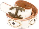 Just Cavalli Patent Leather Stud-Embellished Belt