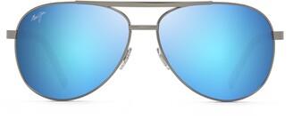 Maui Jim Seacliff 61mm Polarized Aviator Sunglasses