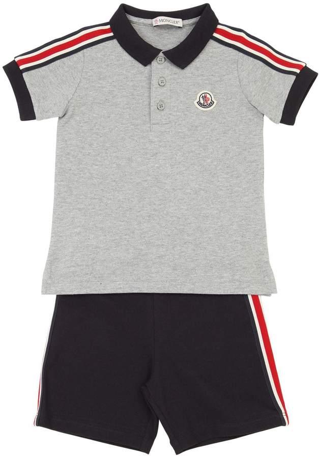 01ebbba31 Cotton Piqué Polo Shirt & Shorts