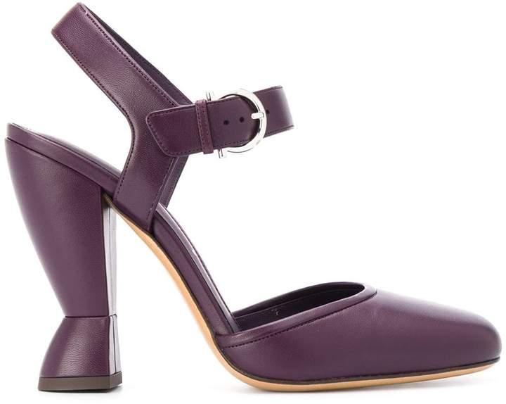 5a2c5d52b45 sculptural heel Mary Jane sandals