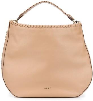 DKNY Braided-Detail Hobo Tote Bag