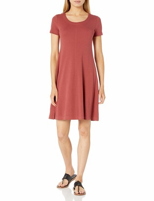 Daily Ritual Pima Cotton and Modal Short-Sleeve Scoop Neck Dress