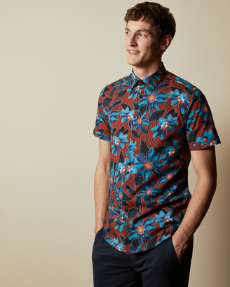 Ted Baker PADTHAI Floral cotton shirt