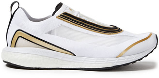 adidas by Stella McCartney Metallic-trimmed Mesh And Stretch-knit Sneakers