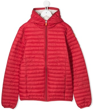 Save The Duck Kids TEEN quilted hooded jacket