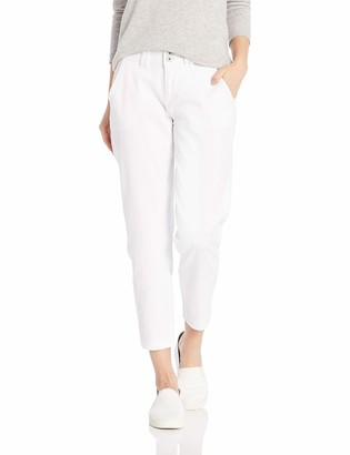 Jag Jeans Women's Flora Chino Crop with Embroidery