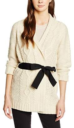 Great Plains Women's Jazz Cable Cardigan, White (Cream Mel), 8 (Size:X-Small)