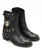 Philipp Plein Panthers Leather Boots