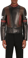 Givenchy Men's Star-Appliquéd Lambskin Biker Jacket