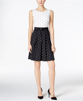 Charter Club Dot-Print Fit & Flare Dress, Only at Macy's