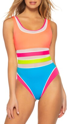 Soluna Rainbow High Leg Maillot One-Piece Swimsuit