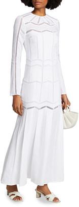 Gabriela Hearst Beavior Herringbone Wool Dress