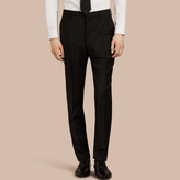 Burberry Modern Fit Wool Mohair Trousers , Size: 46, Black