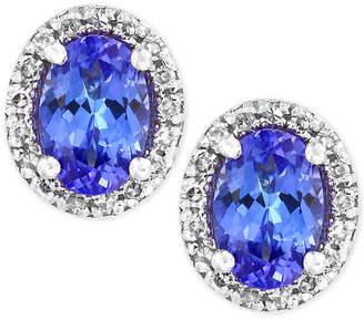 Effy Tanzanite Royale by Tanzanite (7/8 ct. t.w.) Diamond (1/8 ct. t.w.) Stud Earrings in 14k White Gold