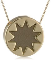House Of Harlow Khaki Mini Sunburst Pendant Necklace, 18""