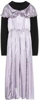 MM6 MAISON MARGIELA Satin-trimmed longline sweatshirt