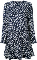 MICHAEL Michael Kors Nyla croc flounce dress - women - Silk/Polyester - 4