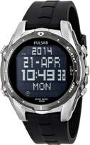 Pulsar Men's PQ2003 World Time Alarm Chronograph Urethane Strap Watch