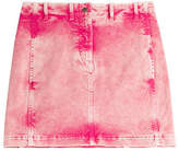 Roberto Cavalli Acid Washed Jean Skirt