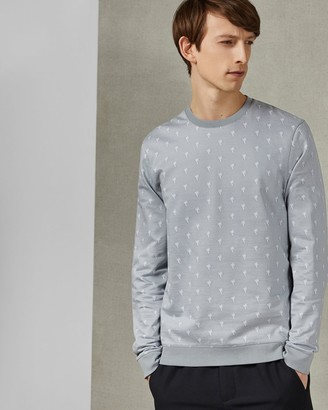 Ted Baker Cotton Palm Tree Jumper
