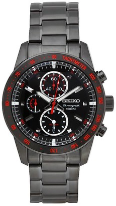 Seiko Sieko Men's SNAD91 Stainless Steel Analog with Black Dial Watch