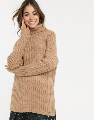 Abercrombie & Fitch longline cozy high neck sweater