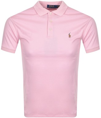 Ralph Lauren Slim Fit Polo T Shirt Pink