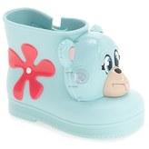 Mini Melissa Toddler Girl's + Jeremy Scott 'Monkey' Water Resistant Boot